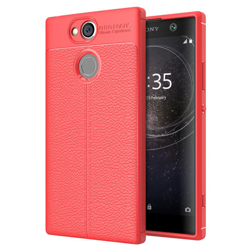 Flexi Litchi Texture Slim Case for Sony Xperia XA2 - Red